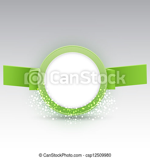 vector banner with ribbon - csp12509980