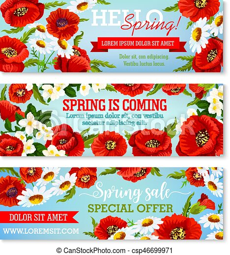 Vector banners for spring time flowers sale spring flowers sale vector banners for spring time flowers sale mightylinksfo