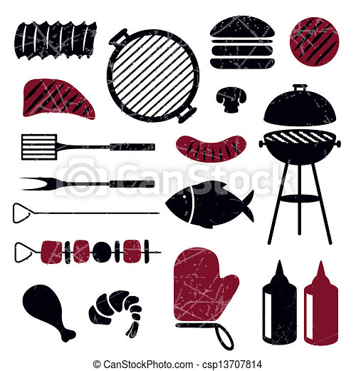 Vector Barbecue Grill Icons - csp13707814