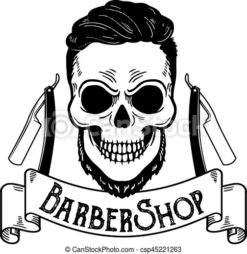 vector barbershop emblem barbershop logo or badge for clip art rh canstockphoto com barbers clipart barber shop clipart