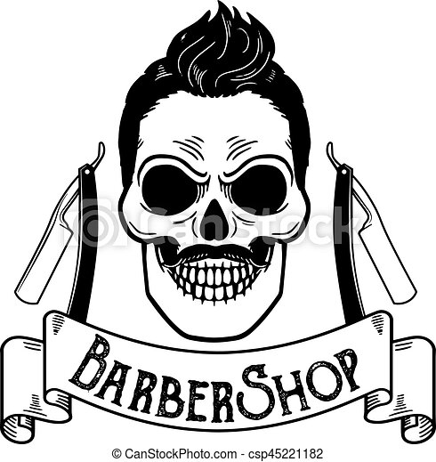 vector barbershop emblem barbershop logo or badge for vector rh canstockphoto com barber shop clipart barber shop chair clipart