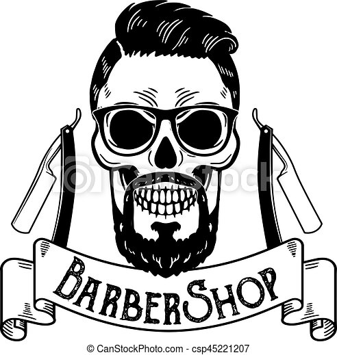 vector barbershop emblem barbershop logo or badge for vector rh canstockphoto com barber shop clipart black and white barber shop clip art free