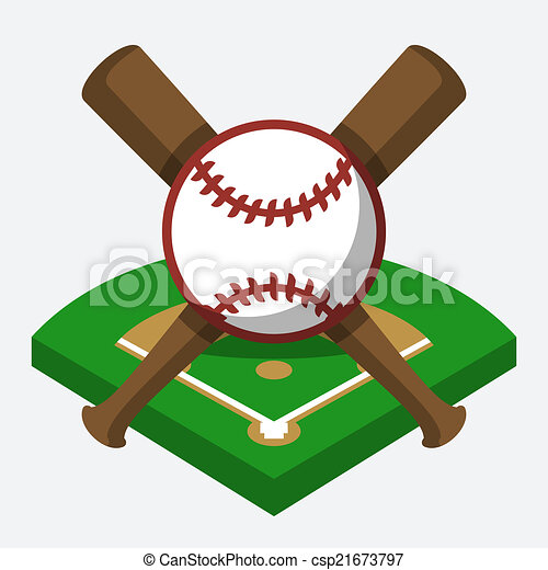 vector baseball field ball and bat composition eps vectors rh canstockphoto ie