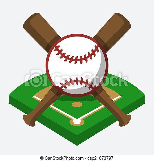 vector baseball field ball and bat composition eps vectors rh canstockphoto com baseball fielder clipart clipart baseball field