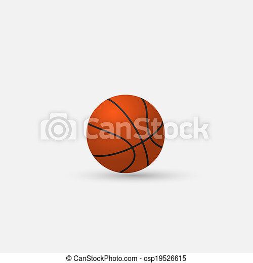 Vector Basketball isolated on a white background - csp19526615