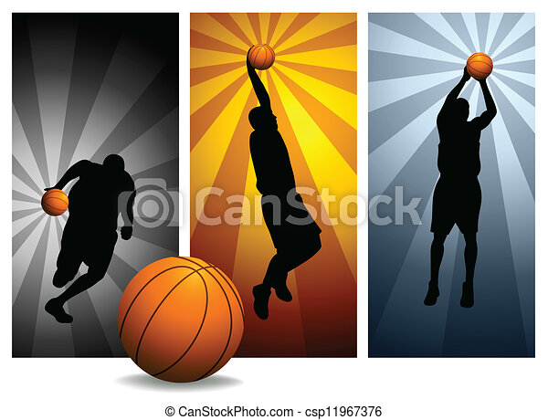 Vector Basketball Players - csp11967376