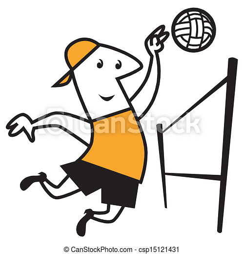 vector beach volleyball playing volleyball on the beach vectors rh canstockphoto com sand volleyball clipart beach volleyball clipart png
