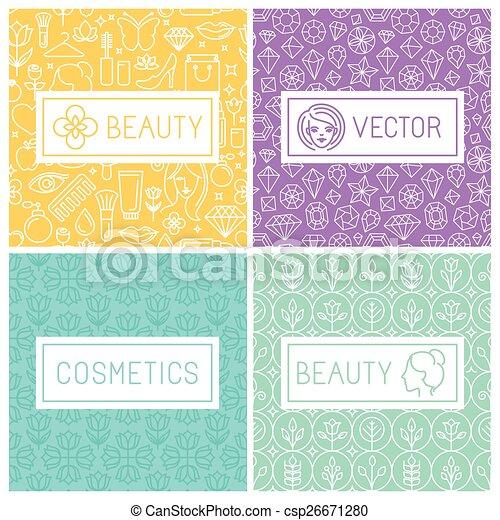 Vector beauty labels - csp26671280