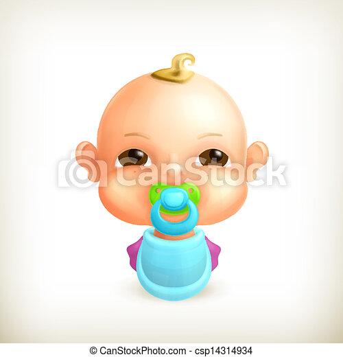 Bebé, icono del vector - csp14314934
