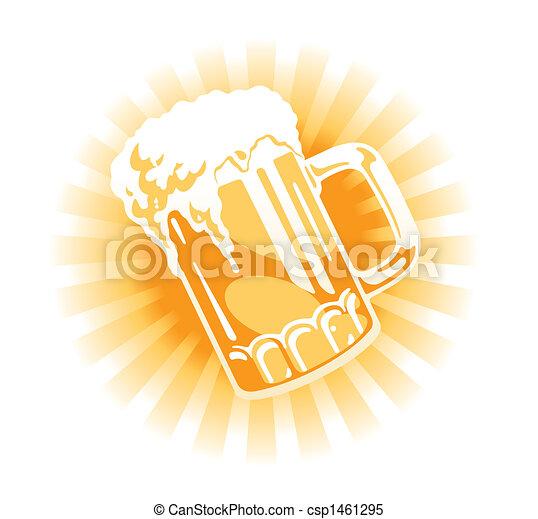 Vector. Beer tankard - csp1461295