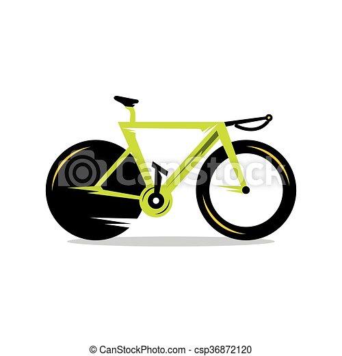 Vector Bicycle Cartoon Illustration. - csp36872120