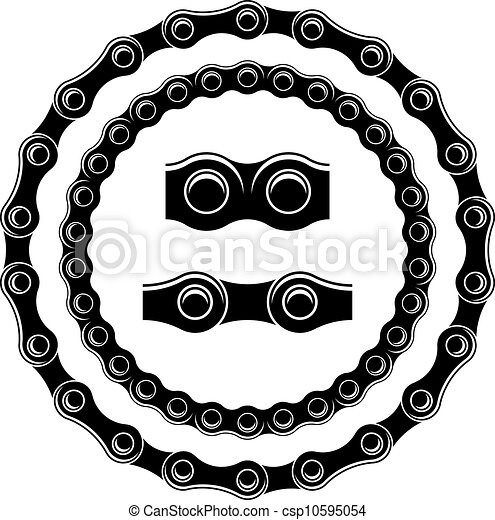 vector bicycle chain seamless silhouettes - csp10595054