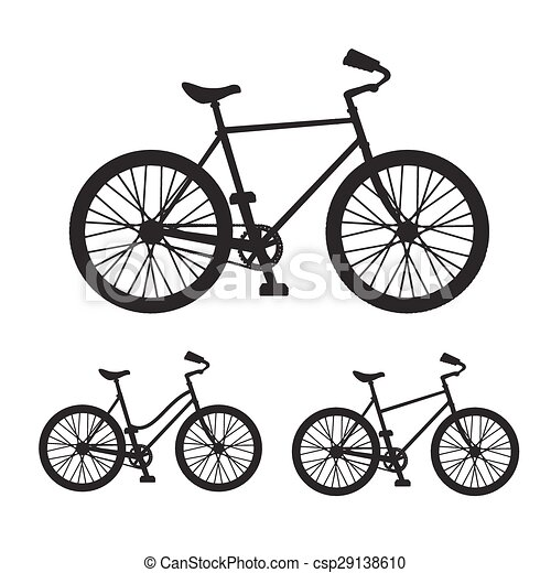 Vector Bicycle silhouette set - csp29138610