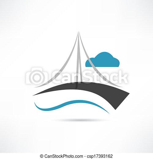 vector big bridge icon - csp17393162