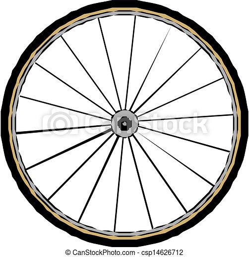 vector bike wheel  - csp14626712