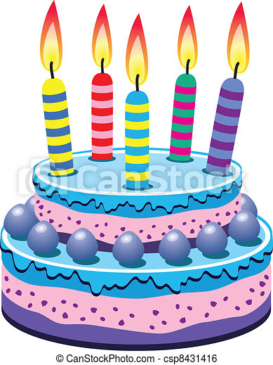 vector birthday cake with burning candles clip art vector search rh canstockphoto com vector birthday cake free birthday cake vector ai