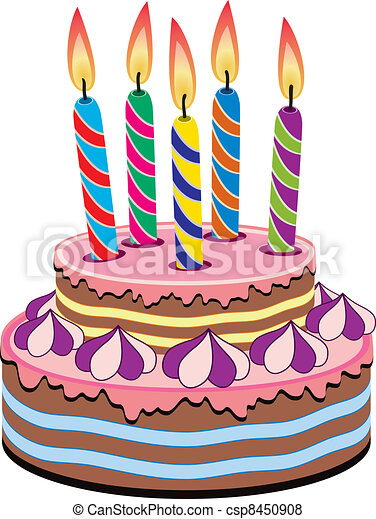 vector birthday cake with burning candles vector search clip art rh canstockphoto com vector birthday cake png vector birthday cake