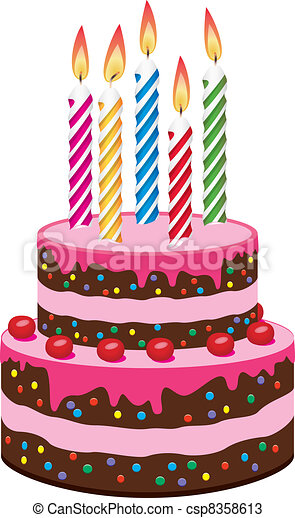 vector birthday cake with burning candles vectors search clip art rh canstockphoto com vector birthday cake silhouette vector birthday cake