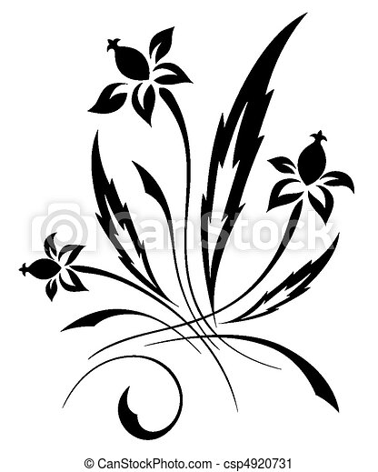 vector black a white flower pattern decorative it is black a white rh canstockphoto com vector flower pattern black and white vector seamless flower pattern