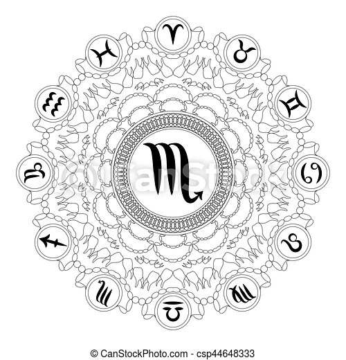Libra Zodiac beauty colouring page | Coloring pages, Zodiac signs ... | 470x450