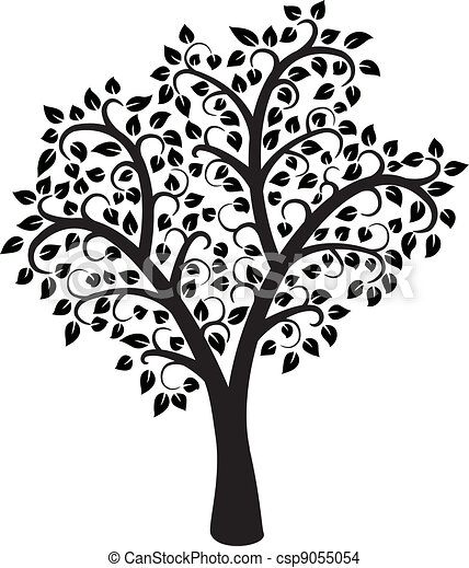 Vector Black And White Tree Vector Design Of Black And White Tree