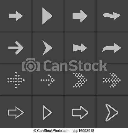Vector black arrows icons set - csp16993918