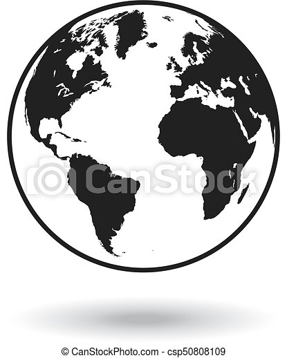 Vector black globe world map detailed black world map mapped on a vector black globe world map gumiabroncs Choice Image
