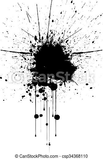 vector black ink splatter background illustration vector vector rh canstockphoto com ink splatter vector art ink splatter vector eps free download
