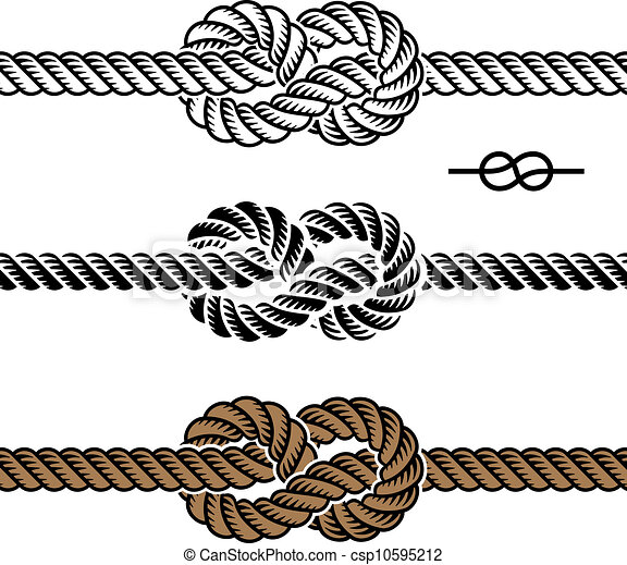 vector black rope knot symbols - csp10595212