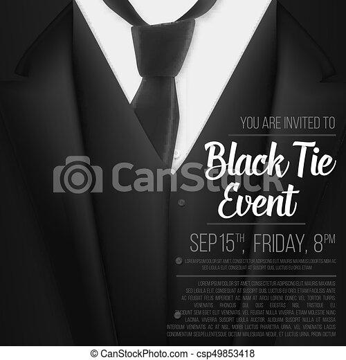 illustration of vector black suit black tie event vector clip art search illustration. Black Bedroom Furniture Sets. Home Design Ideas