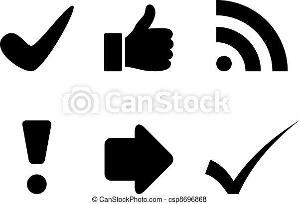 vector black symbols - csp8696868