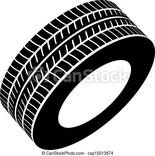 vector black tyre symbol - csp15013874