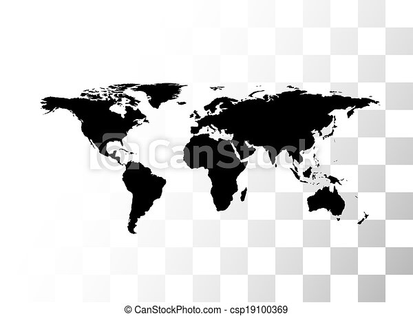 Vector black world map with transparent background clip art vector vector black world map gumiabroncs Gallery