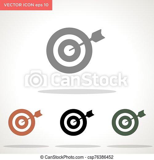 vector, blanco, blanco, icono, aislado, flecha, plano de fondo - csp76386452