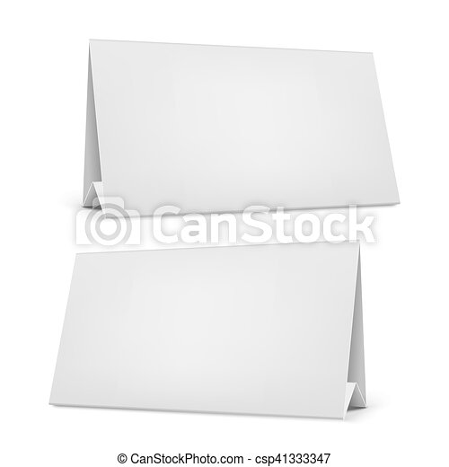 Vector Blank Desk Calendar With Stand Realistic White Blank Desk