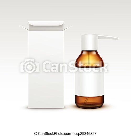 Vector Blank Medicine Medical Glass Spray Bottle - csp28346387