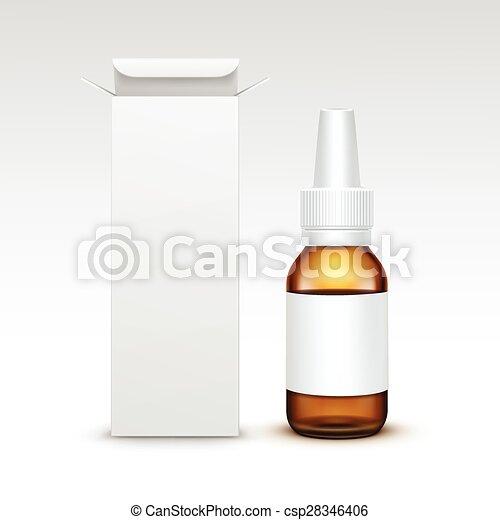Vector Blank Medicine Medical Glass Spray Bottle - csp28346406