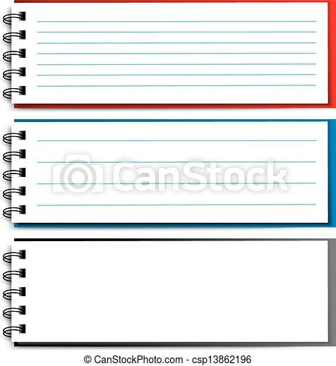 Vector blank open notebook - EPS 10 - csp13862196