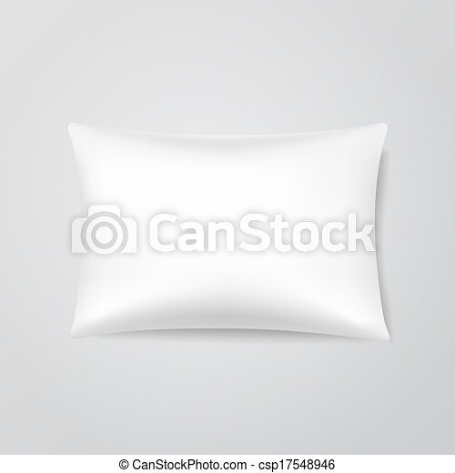 Vector Blank Pillow - csp17548946