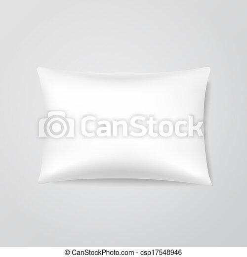 Vector Blank Pillow - csp17548946