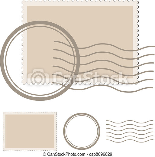 vector blank post stamp - csp8696829