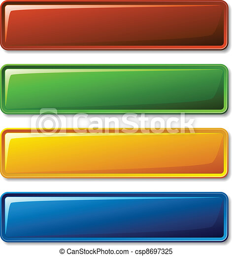 vector blank shiny buttons - csp8697325