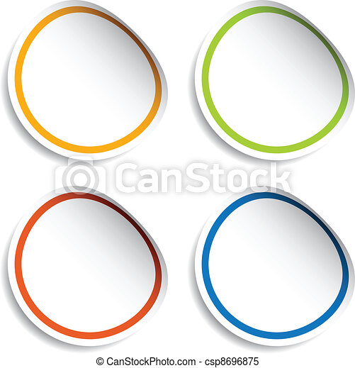 vector blank stickers - csp8696875
