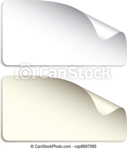 vector blank stickers - csp8697085