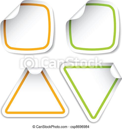 vector blank stickers - csp8696984