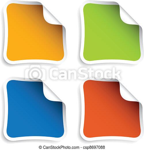 vector blank stickers - csp8697088