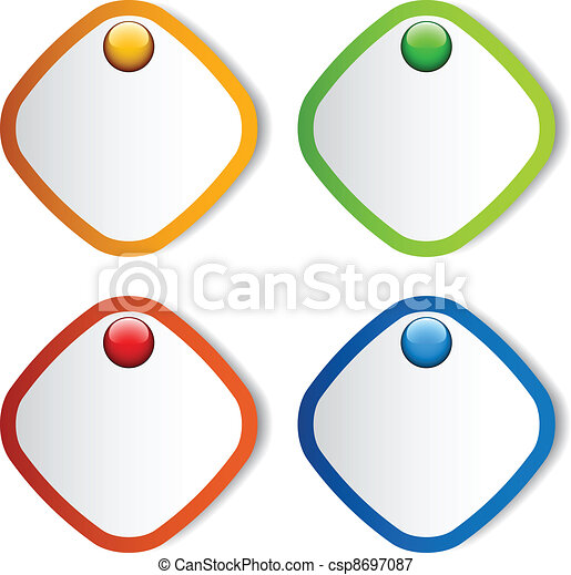 vector blank stickers - csp8697087