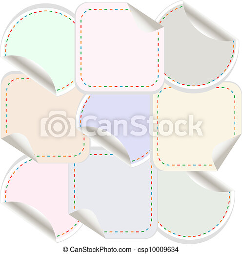 blank stickers
