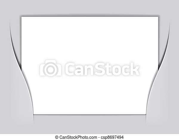 vector blank white rectangle paper - csp8697494