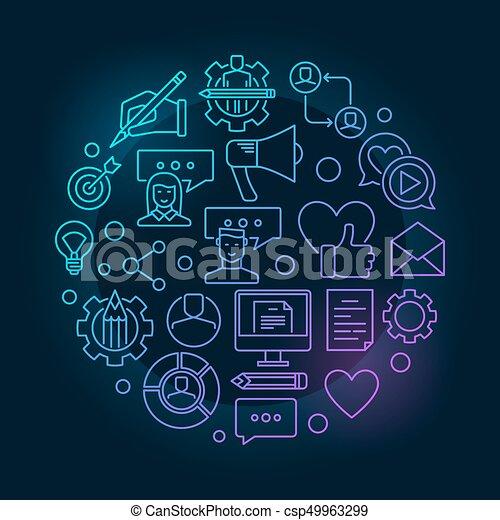 Vector blog concept illustration - csp49963299